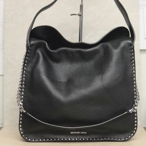 Michael Kors Astor Large Black Hobo Bag